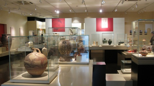 Vase collection in the Museum of Athens