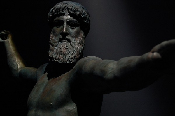Greek statue of Poseidon