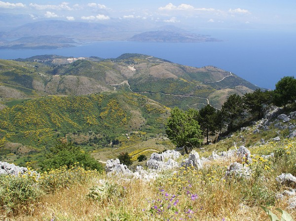 Mount Pantokrator in Corfu