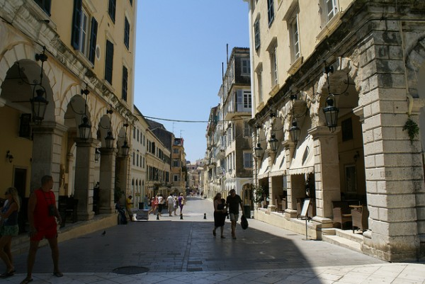 The city of Corfu