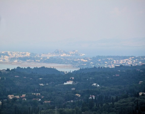 View of Corfu from Mount Pentocrator
