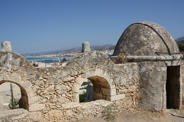 The walls of the Venetian Fort in Rethymno