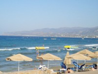 The resort village of Stalida in Crete