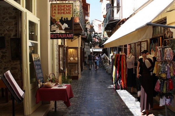 The streets of Rethymno