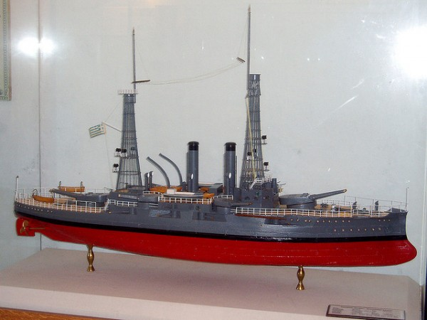 Model of a Greek battleship - Maritime Museum of Chania