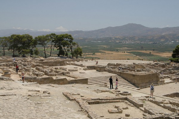 The Palace of Phaistos in Crete