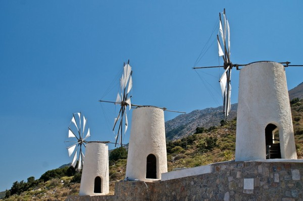 Windmills in Crete
