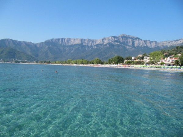 Island of Thassos with the Ipsarion mountain