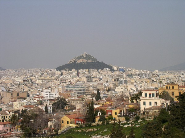 The Lykavittos Hill in Athens