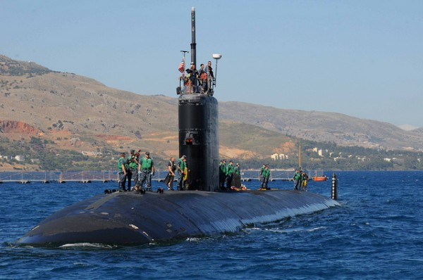 Submarine in the Souda Bay