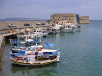 The ancient city of Heraklion in Crete