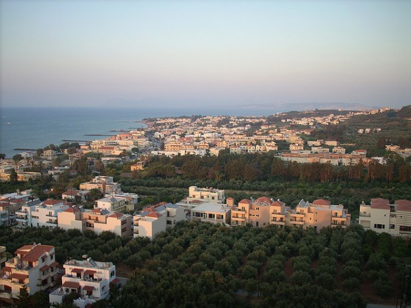View from the Platanias hill