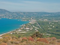 View of Crete vith the village of Kalyves