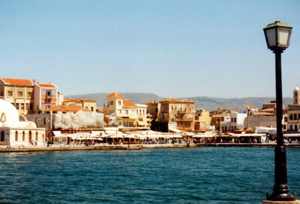 Beautiful port in Chania