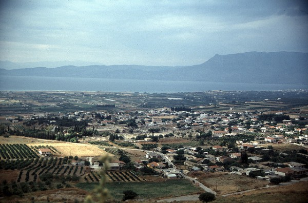 Ancient Corinth seen from the Acrocorint