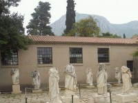 The Acropolis and the Museum of Archeology in Corinth