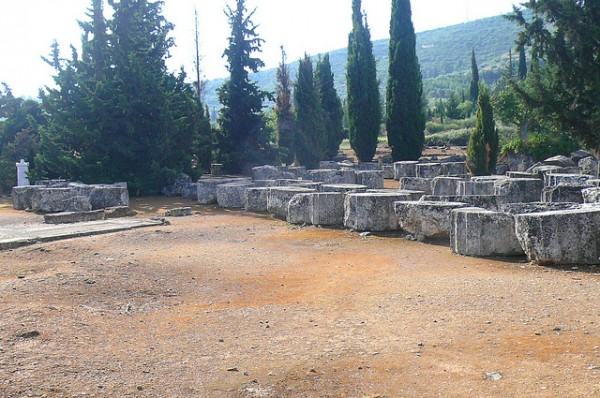 View of the archeological site of Nemea
