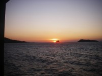 Sunset at the Lesbos Island