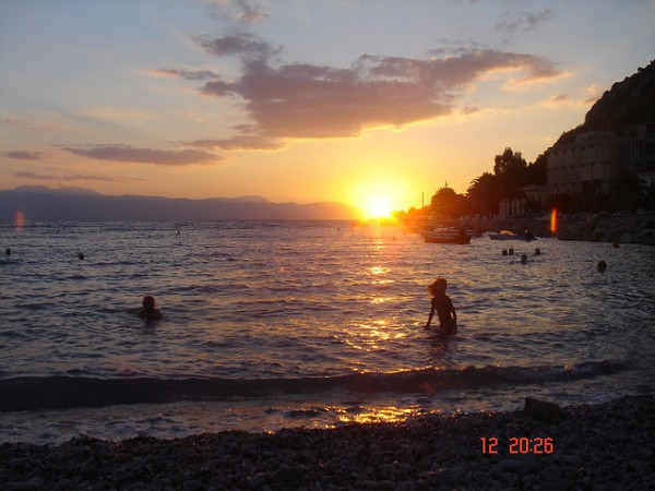 Sunset in Loutraki