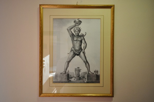 Artist's impression of the Colossus of Rhodes
