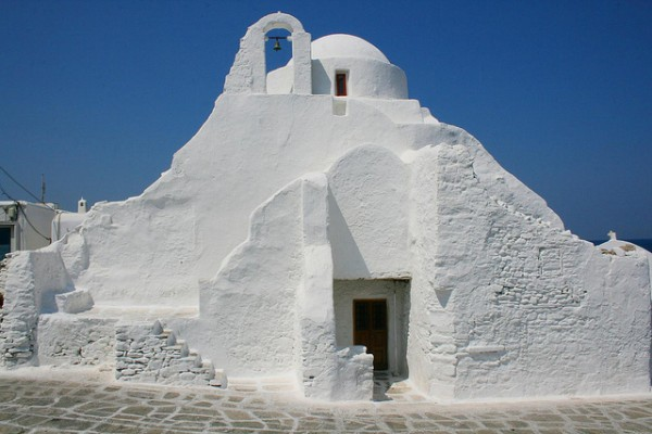 The Church of Panagia Paraportiani in Mykonos