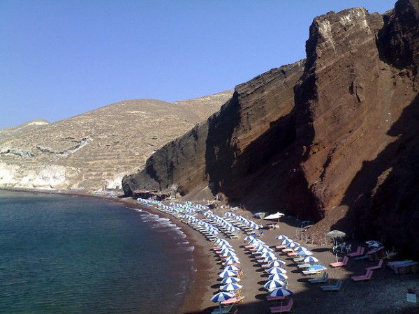 Akrotiri Beach in Santorini