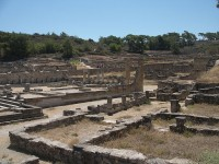 Kamiros archeological site in Rhodes