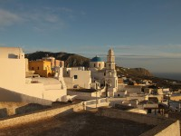 The resorts of Pyrgos and Akrotiri on the Island of Santorini