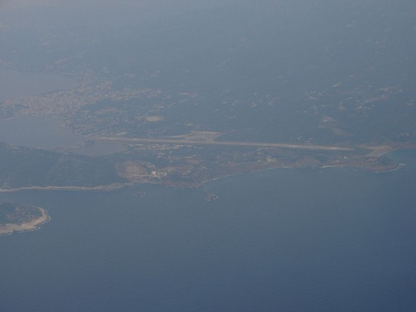 View of the airport of Skiathos
