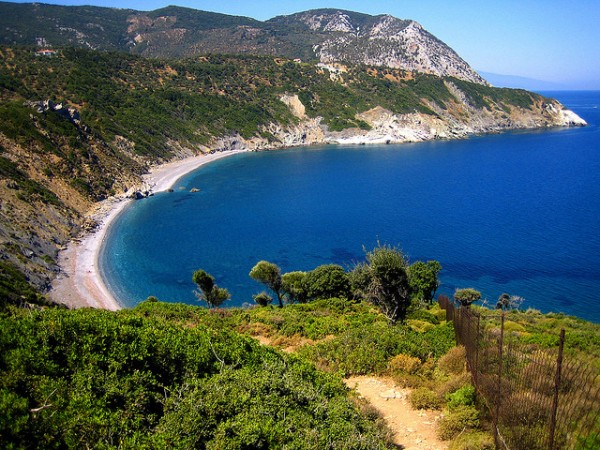 The Agios Gialos beach in Skiathos