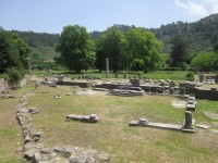 The Agora and the Amphiteater in Thassos