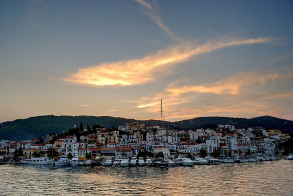 The beautiful Port of Skiathos