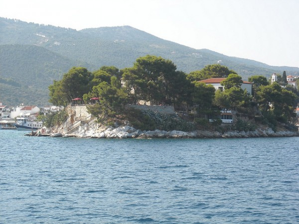 View of the Bourtzi Fortress in Thassos