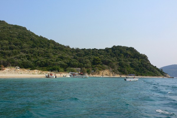 Marathonisi or Turtle island, Laganas bay, Zakythinos