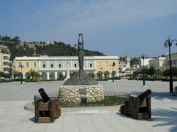 The Solomos Museum on the square of Zakythinos