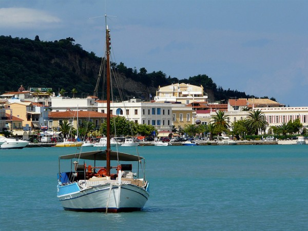 The port of Zakynthos