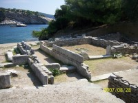 The historical village of Alyki in Thassos