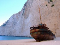 The shipwreck on the Navagio beach