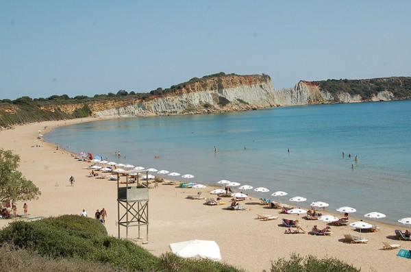The Gerakas beach in Zakynthos